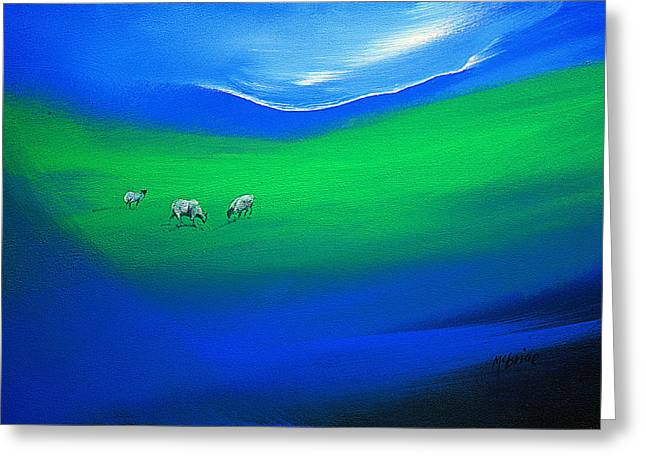 The Grass Is Greener Greeting Card by Neil McBride