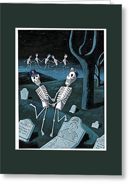 The Grateful Dead Greeting Card by Mark Ulriksen