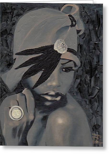 The Gray Hat Greeting Card by  Fli Art