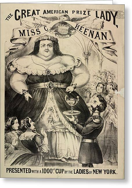 The Great American Prize Lady Greeting Card by British Library