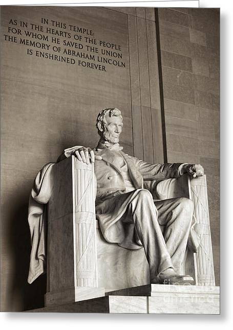 The Great Emancipator Greeting Card by Olivier Le Queinec