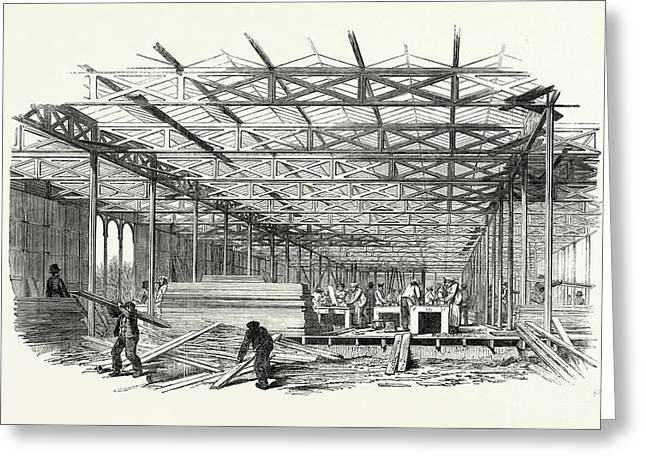 The Great Exhibition The Building Of The Crystal Palace Greeting Card by English School