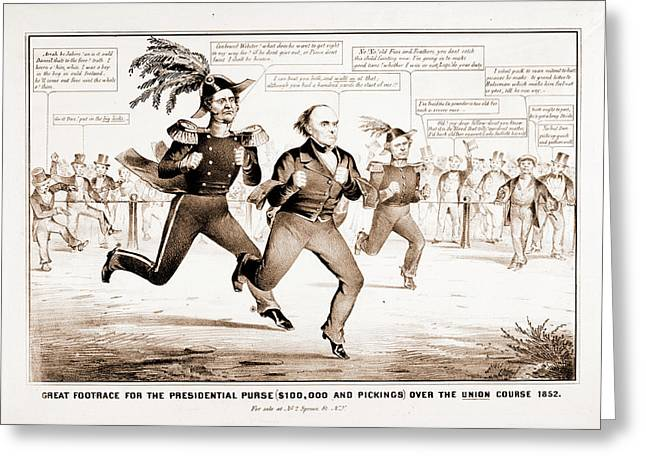 The Great Footrace For The Presidential Purse 100 Greeting Card by Litz Collection