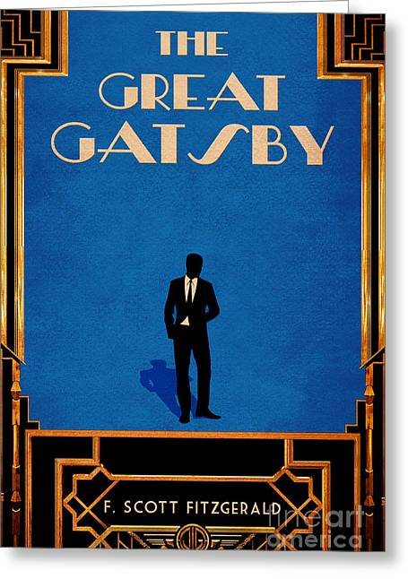 The Great Gatsby Book Cover Movie Poster Art 1 Greeting Card by Nishanth Gopinathan