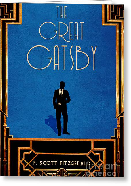 The Great Gatsby Book Cover Movie Poster Art 2 Greeting Card by Nishanth Gopinathan
