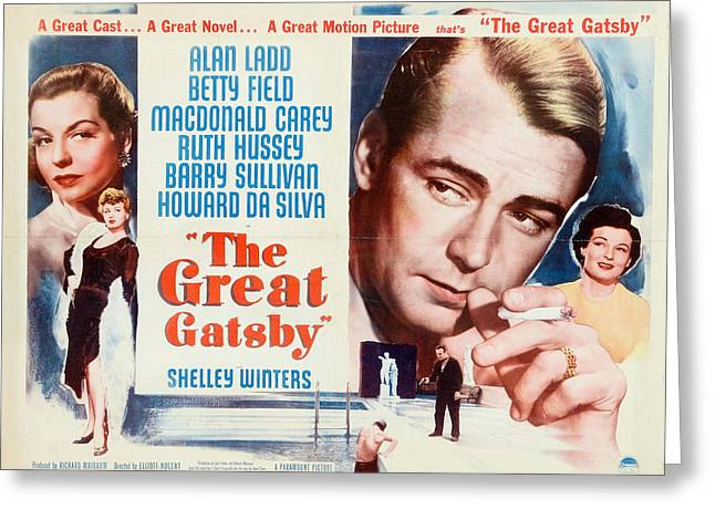 The Great Gatsby Movie Poster Greeting Card