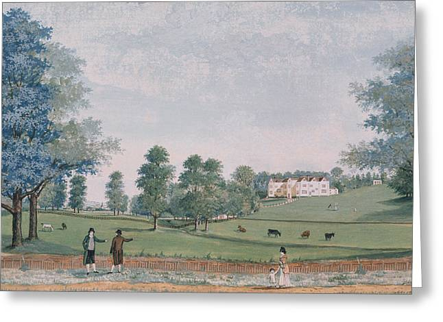 The Great House And Park At Chawton Greeting Card by Adam Callander