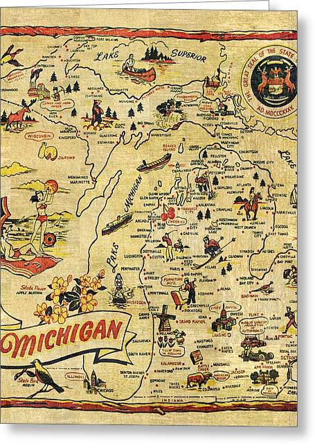 The Great Lakes State Greeting Card