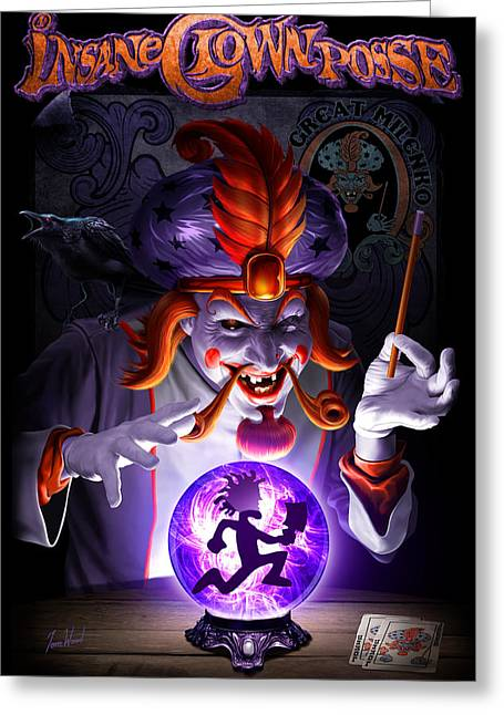 The Great Milenko Dc Greeting Card by Tom Wood