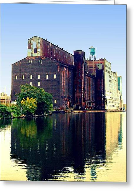 The Great Northern Elevator Greeting Card by John Carncross