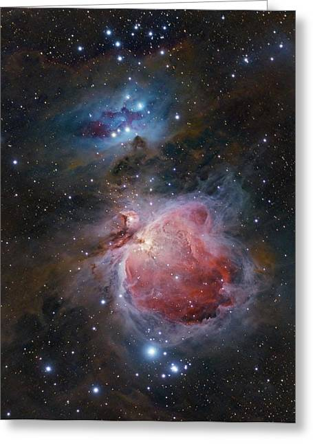 The Great Orion Nebula Greeting Card by Alex Conu
