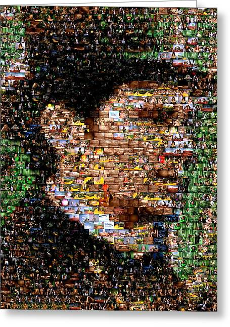The Great Powerful Mosaic Greeting Card by Paul Van Scott