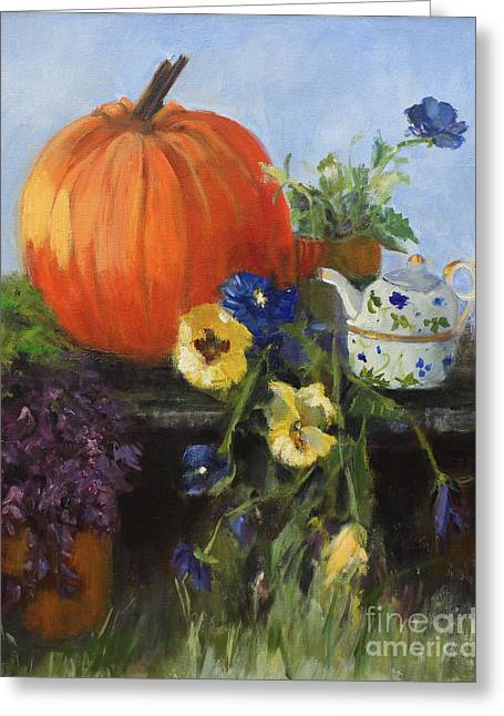 The Great Pumpkin Greeting Card by Sandy Lane