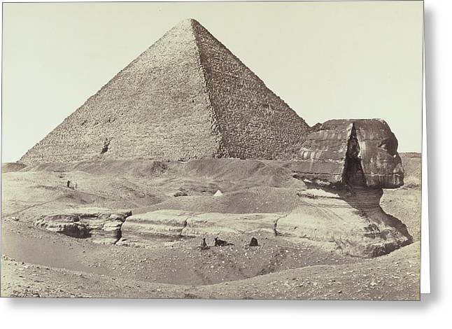 The Great Pyramid And The Sphinx Francis Frith Greeting Card