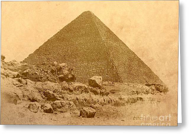 Greeting Card featuring the photograph The Great Pyramid by Nigel Fletcher-Jones