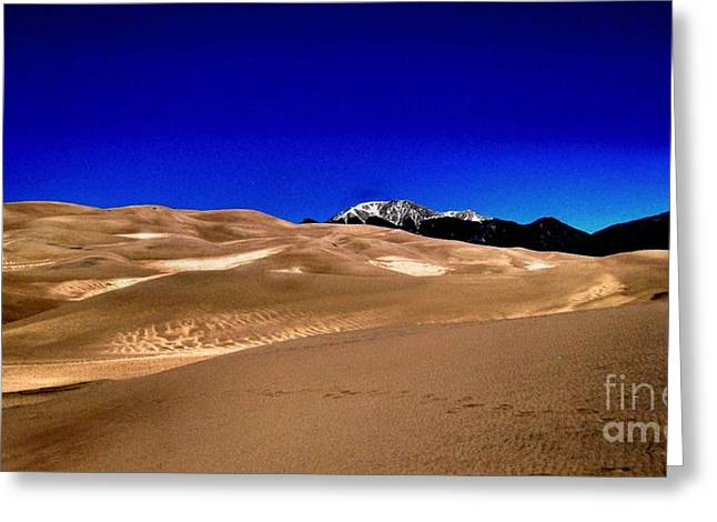 The Great Sand Dunes1 Greeting Card by Claudette Bujold-Poirier