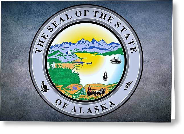 The Great Seal Of The State Of Alaska  Greeting Card