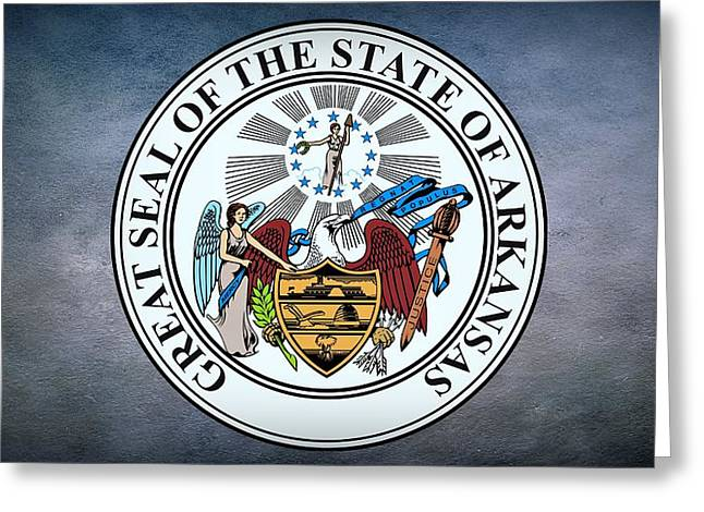 The Great Seal Of The State Of Arkansas Greeting Card by Movie Poster Prints