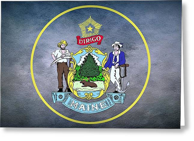 The Great Seal Of The State Of Maine  Greeting Card by Movie Poster Prints