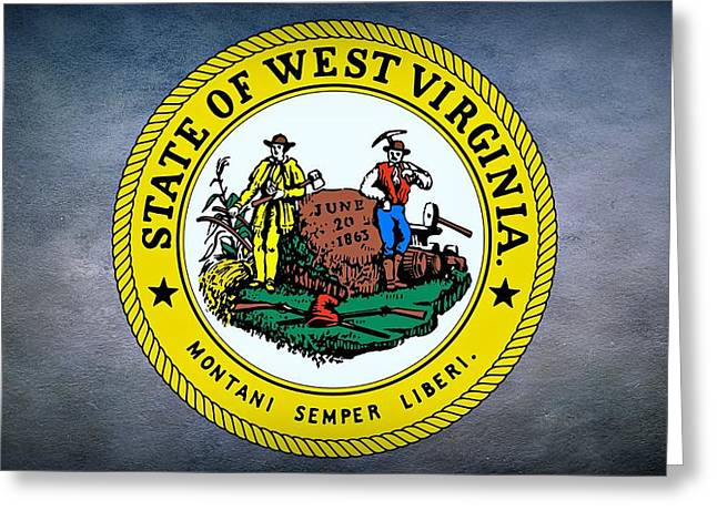 The Great Seal Of The State Of West Virginia Greeting Card by Movie Poster Prints