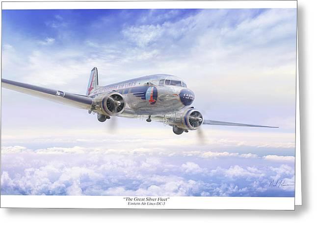 The Great Silver Fleet Greeting Card by Mark Karvon