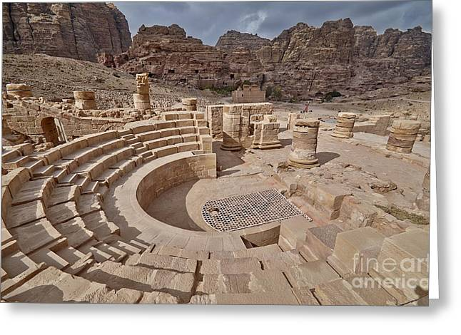 the Great Temple of Petra Greeting Card