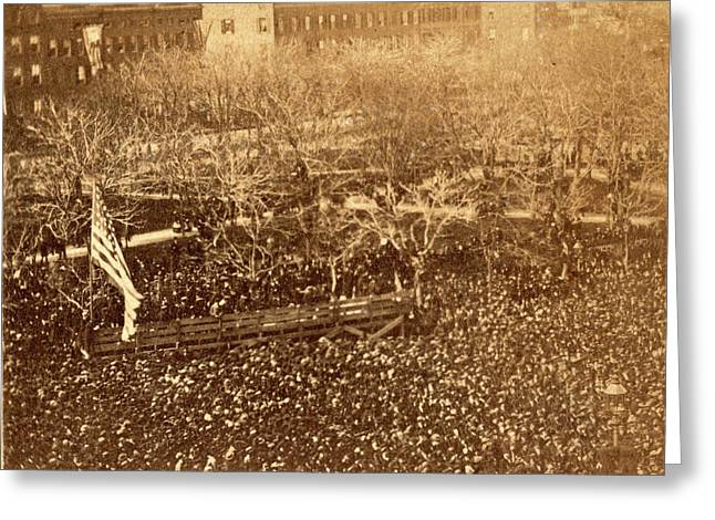 The Great Union Meeting In Union Square, New York Greeting Card by Litz Collection