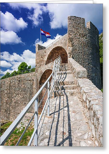 The Great Wall Above The City Center Greeting Card by Russ Bishop