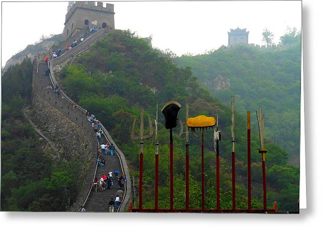 The Great Wall Greeting Card by Kay Gilley