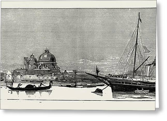 The Greek Royal Wedding At Athens The Royal Yacht Osborne Greeting Card by Litz Collection