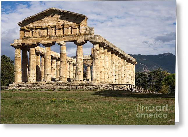 The Greek Temple Of Athena Greeting Card