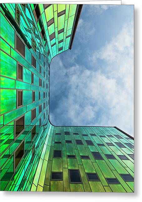 The Green Building Greeting Card by Leon