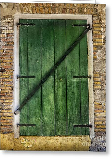 The Green Door Greeting Card by Betty LaRue