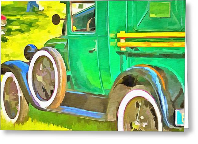 The Green Machine  Greeting Card by L Wright