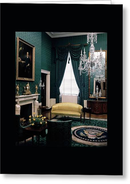 The Green Room In The White House Greeting Card by Haanel Cassidy
