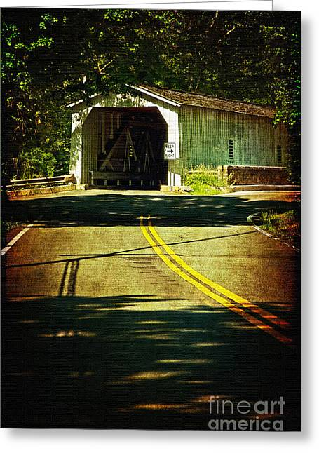 The Green Sergeants Covered Bridge Greeting Card
