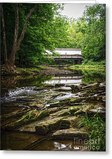Greeting Card featuring the photograph The Green Sergeants Covered Bridge II by Debra Fedchin