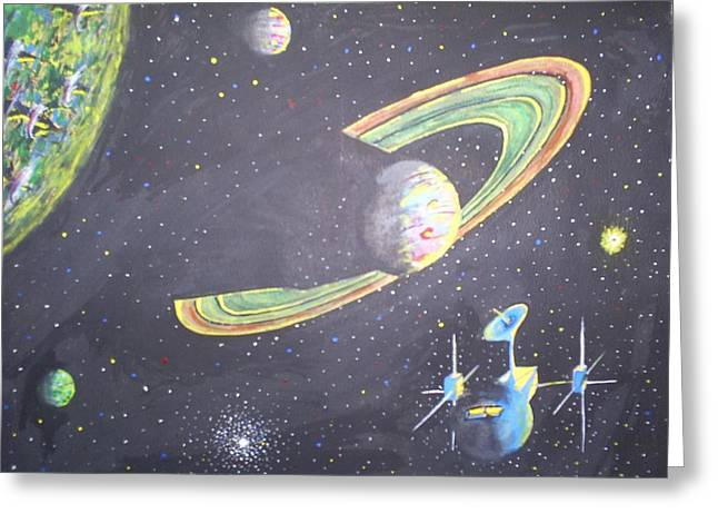 The Green Solar System Greeting Card