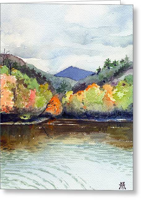 The Greenbriar River Greeting Card by Katherine Miller
