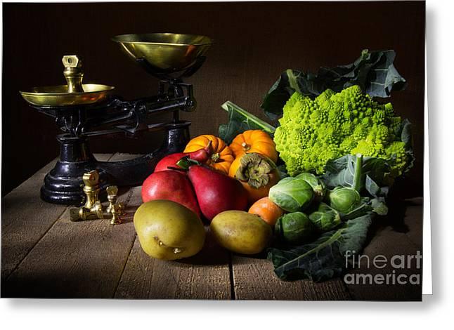 The Greengrocer Greeting Card by Ann Garrett