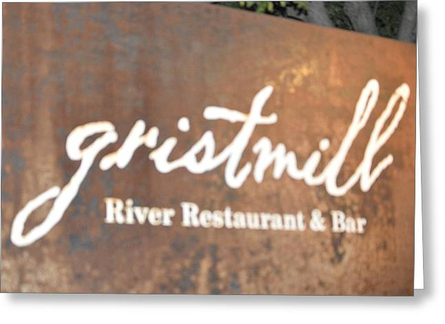 The Gristmill River Restaurant And Bar Greeting Card by Shawn Hughes