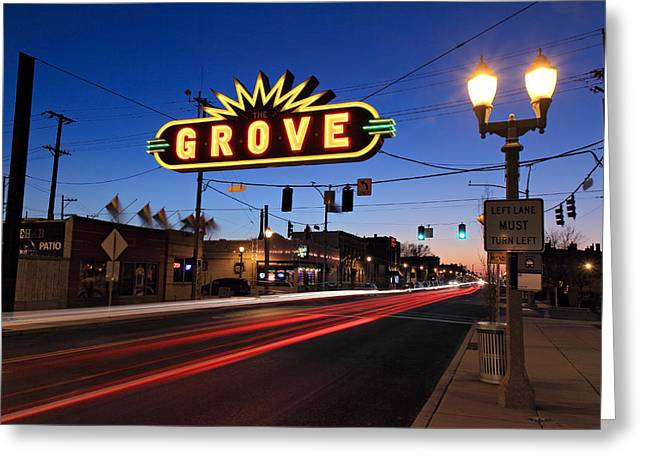 The Grove In Twilight Greeting Card