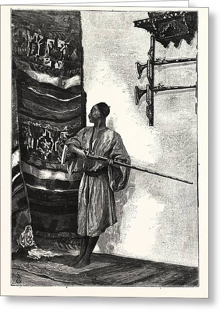 The Guard Of The Harem Greeting Card by English School