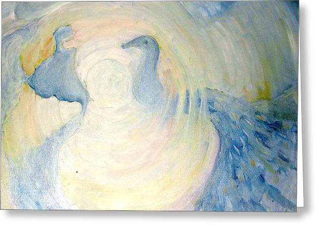 The  Guardian Angels  Greeting Card by Shoshana Donaya