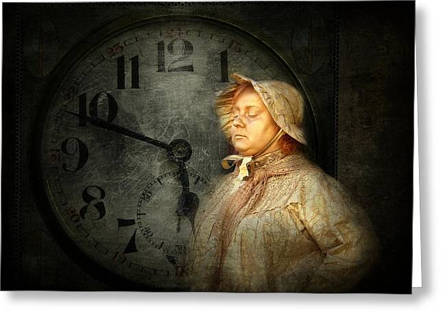 The Guardian Of Time Greeting Card by Heike Hultsch