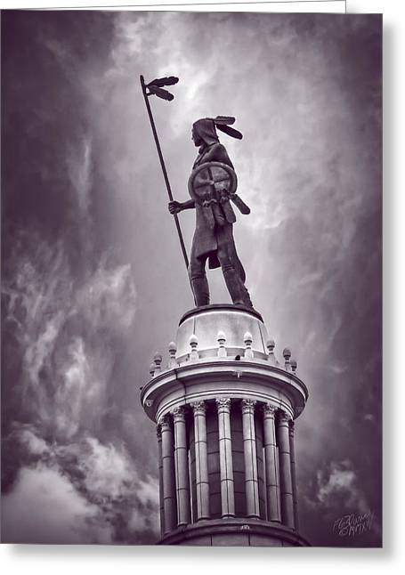The Guardian Oklahoma City - Monochrome Greeting Card by F Leblanc