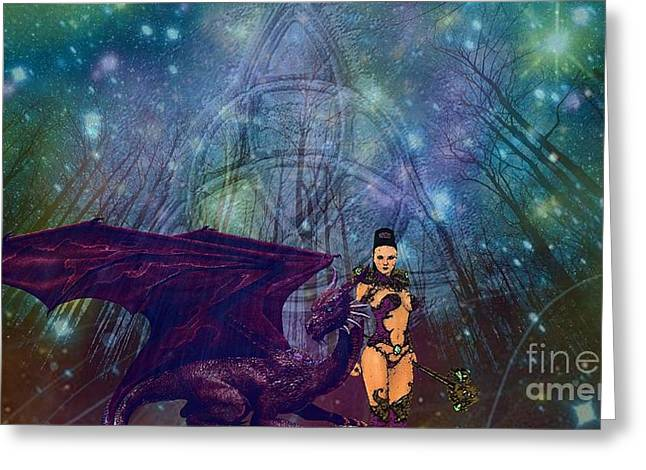 The Guardians Greeting Card by Jessie Art