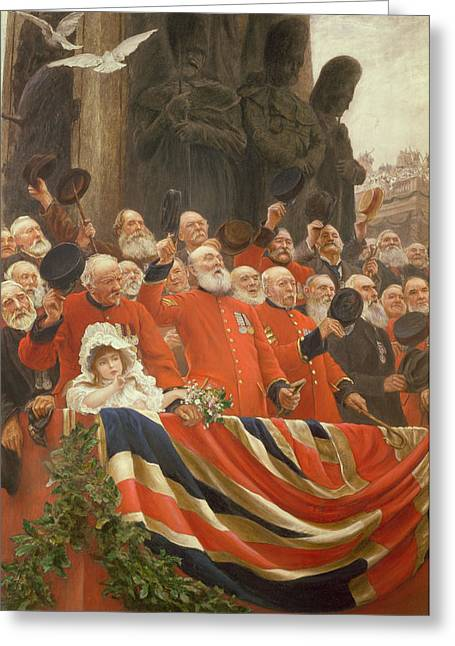 The Guards Cheer, 1898 Greeting Card by Sir Hubert von Herkomer