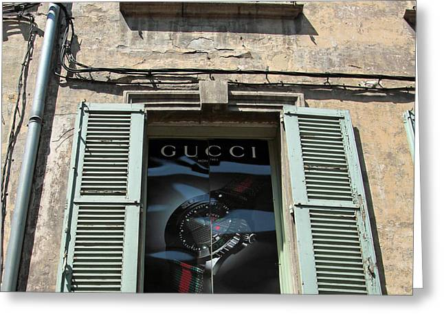 The Gucci Window Greeting Card