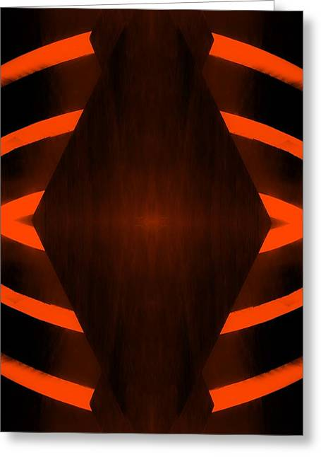 The Guggenheim Mirror Collection In Quad Colors Dark Orange Greeting Card by Rob Hans